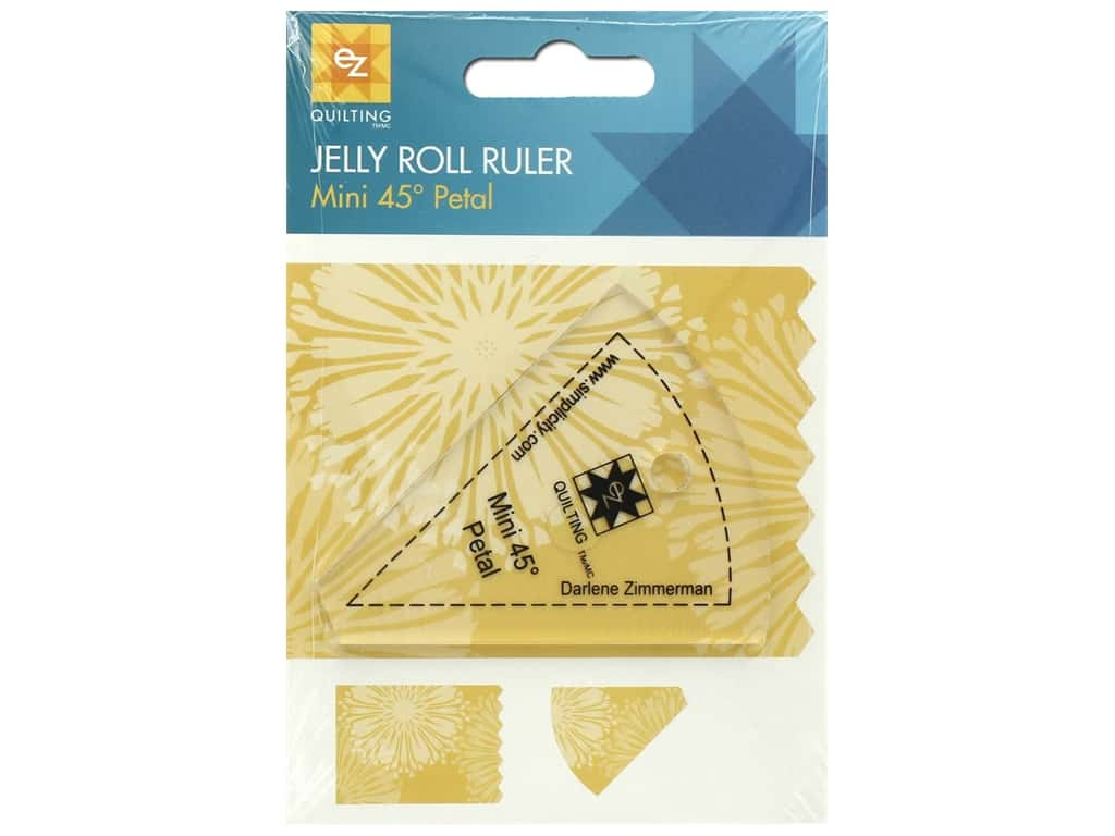 EZ Tools Jelly Roll Ruler Petal Mini 45 Degree