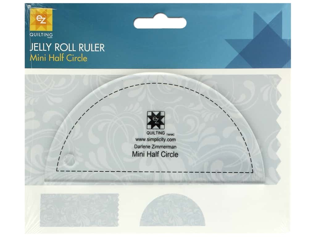 EZ Tools Jelly Roll Ruler Half Circle Mini