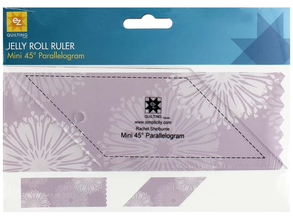 EZ Tools Jelly Roll Ruler Parallelogram Mini 45 Degree