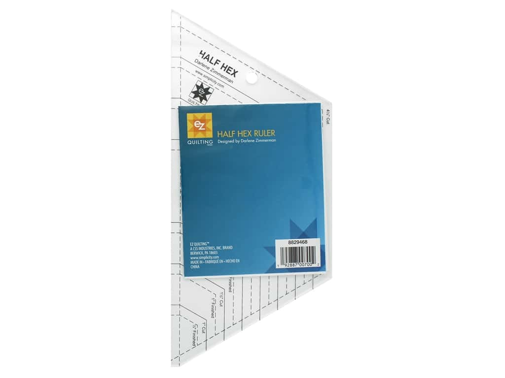 EZ Tools Acrylic Ruler Half Hex