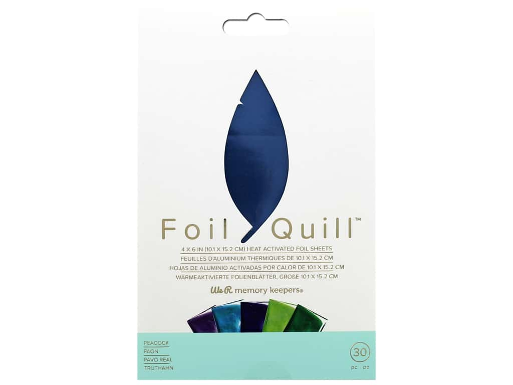 We R Memory Keepers Foil Quill 4 x 6 in. Foil Sheets 30 pc. Peacock