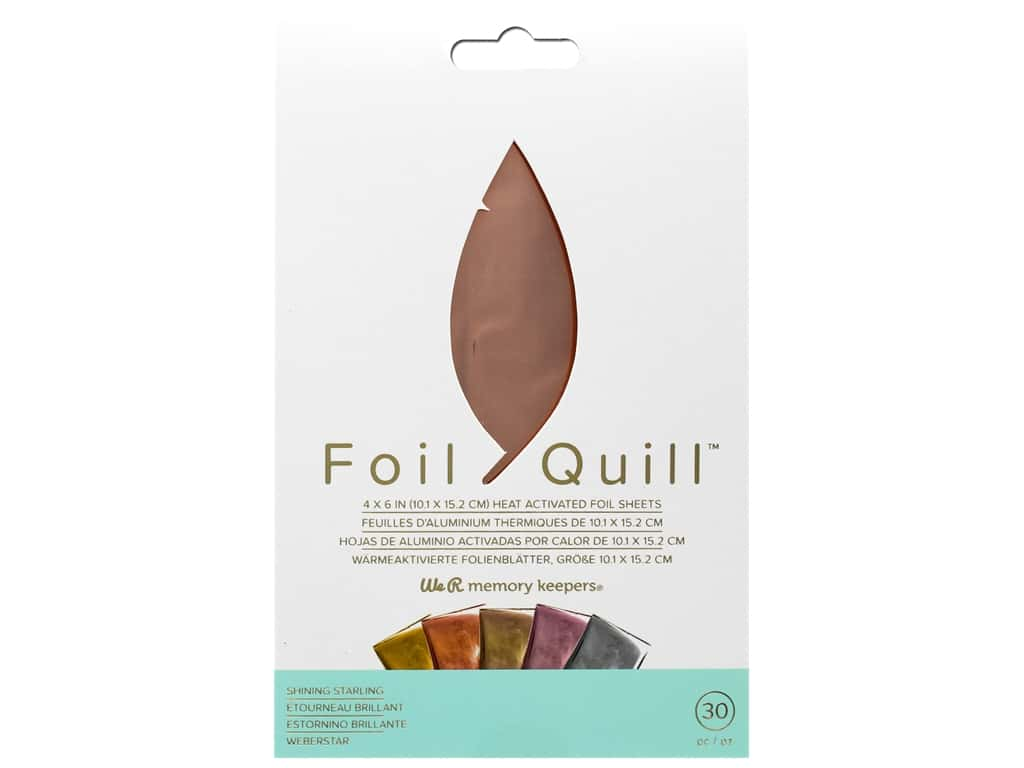 We R Memory Keepers Foil Quill 4 x 6 in. Foil Sheets 30 pc. Shining Starling
