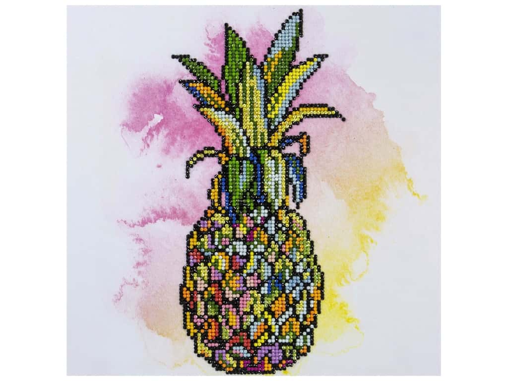 Diamond Art Kit 12 in. x 12 in. Intermediate Pineapple