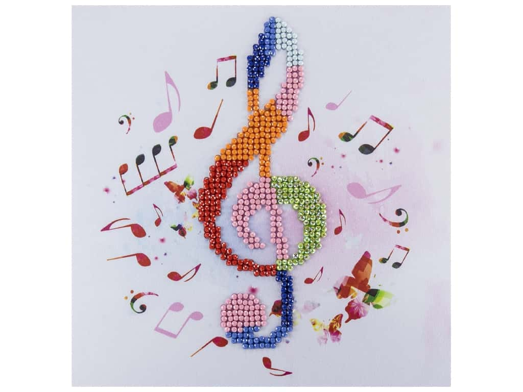 Diamond Art Kit 8 in. x 8 in. Beginner Treble Clef