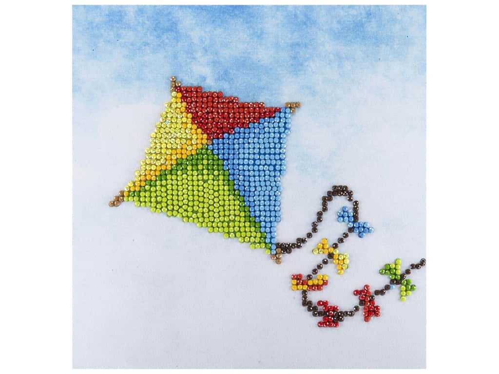 Diamond Art Kit 8 in. x 8 in. Beginner Kite