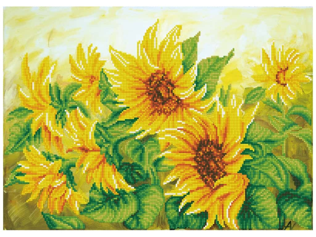Diamond Dotz Facet Art Kit Intermediate Hazy Daze Sunflowers