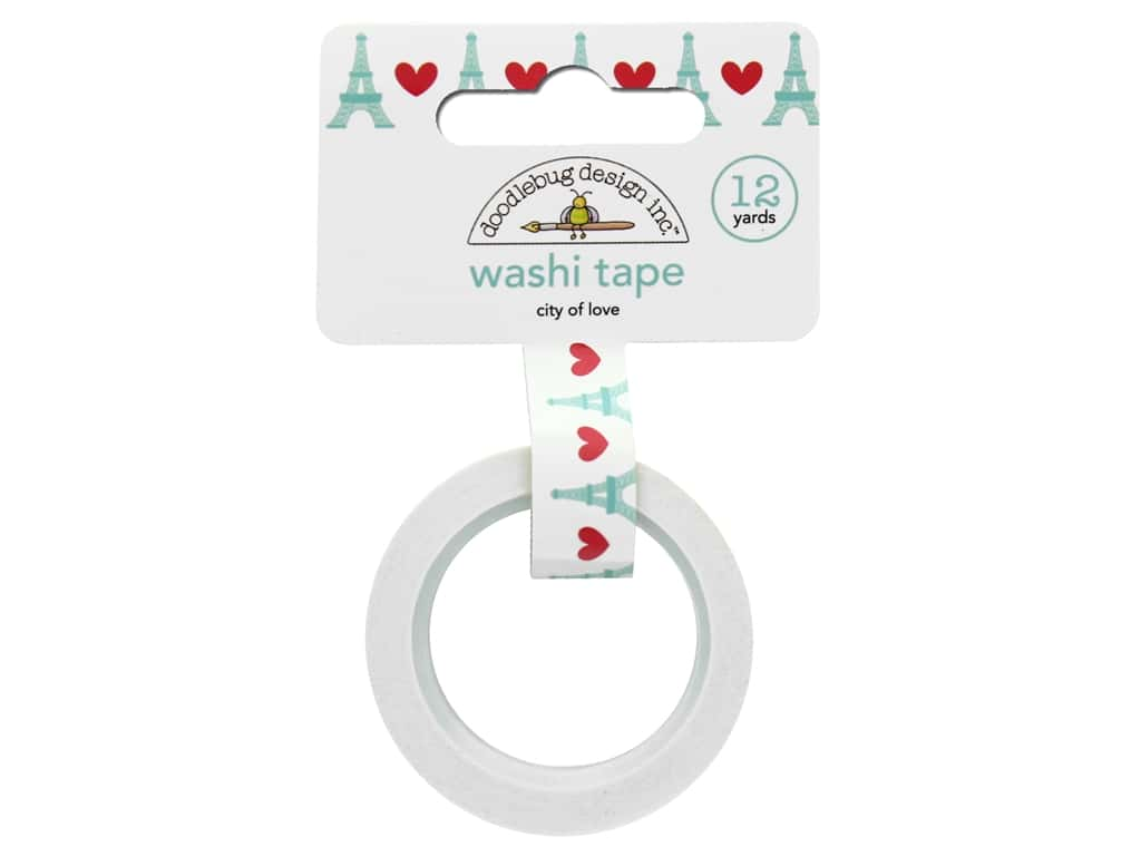 Doodlebug Washi Tape French Kiss City Of Love 12yd