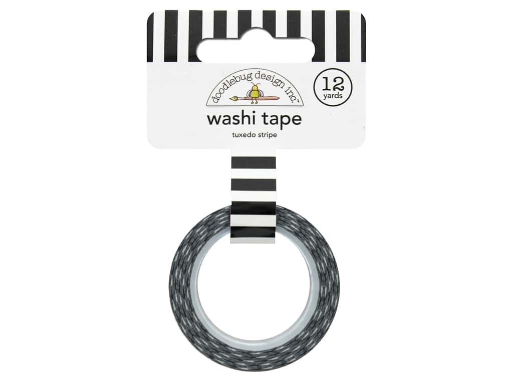Doodlebug Washi Tape Lot O' Luck Tuxedo Stripe 12yd