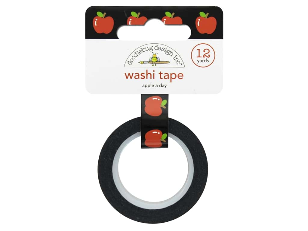 Doodlebug Washi Tape 5/8 in. x 12 yd. Back To School Apple A Day