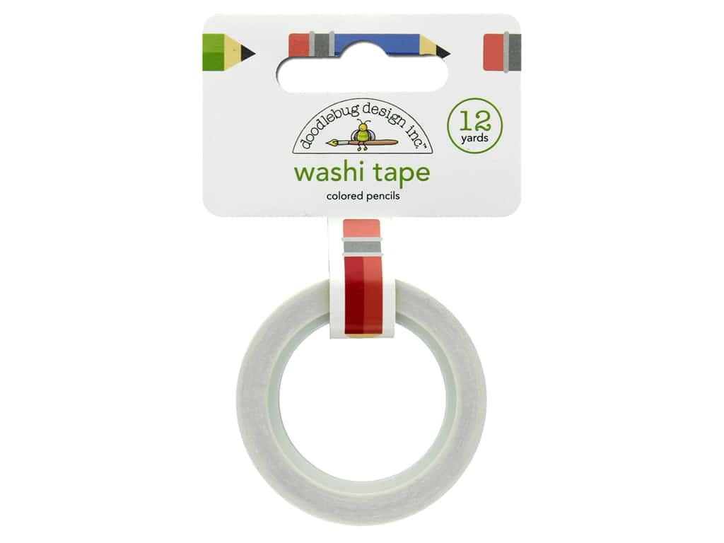 Doodlebug Washi Tape 5/8 in. x 12 yd. Back To School Color Pencils