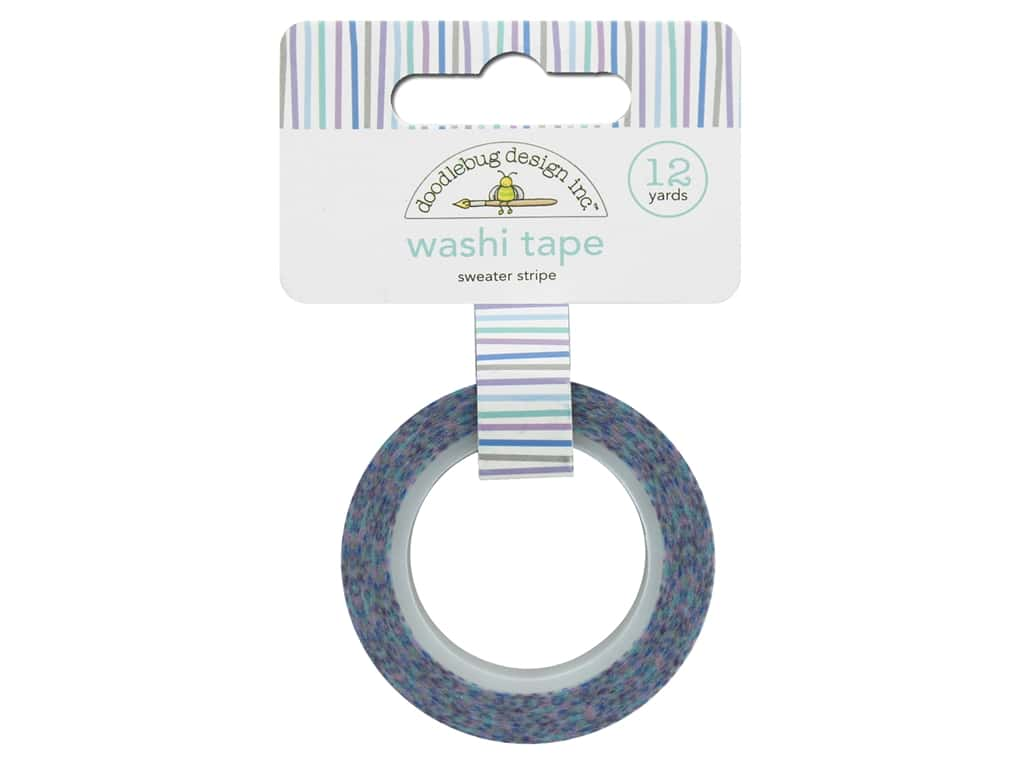 Doodlebug Washi Tape 5/8 in. x 12 yd. Polar Pals Sweater Stripes
