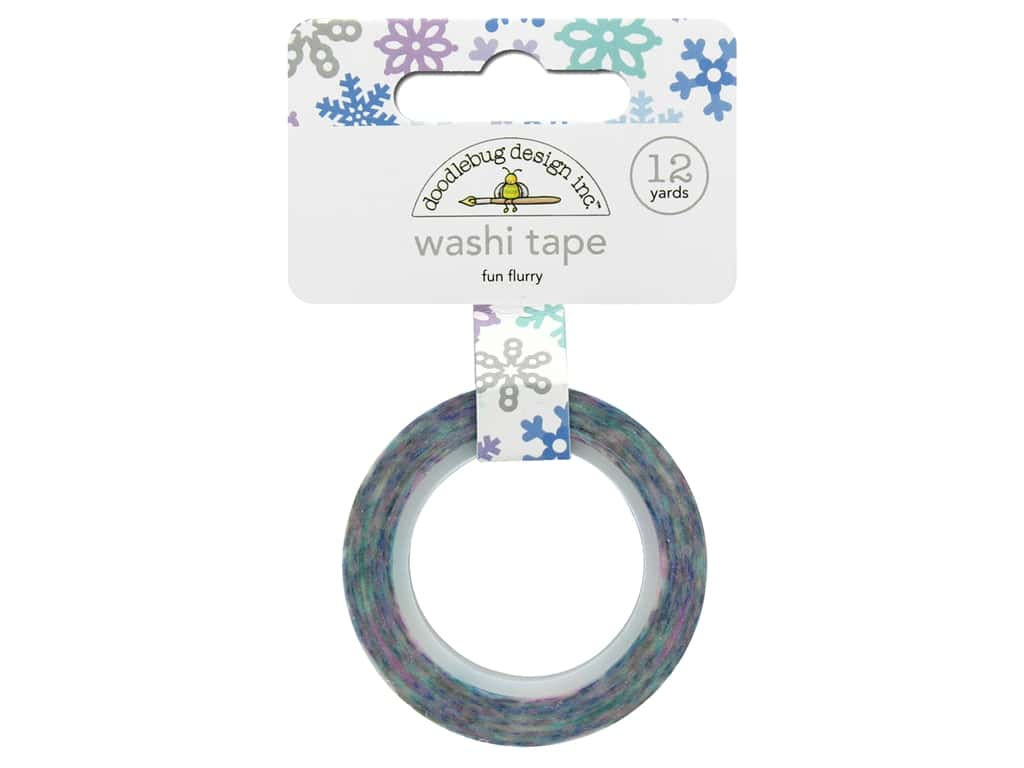 Doodlebug Washi Tape 5/8 in. x 12 yd. Polar Pals Fun Flurry