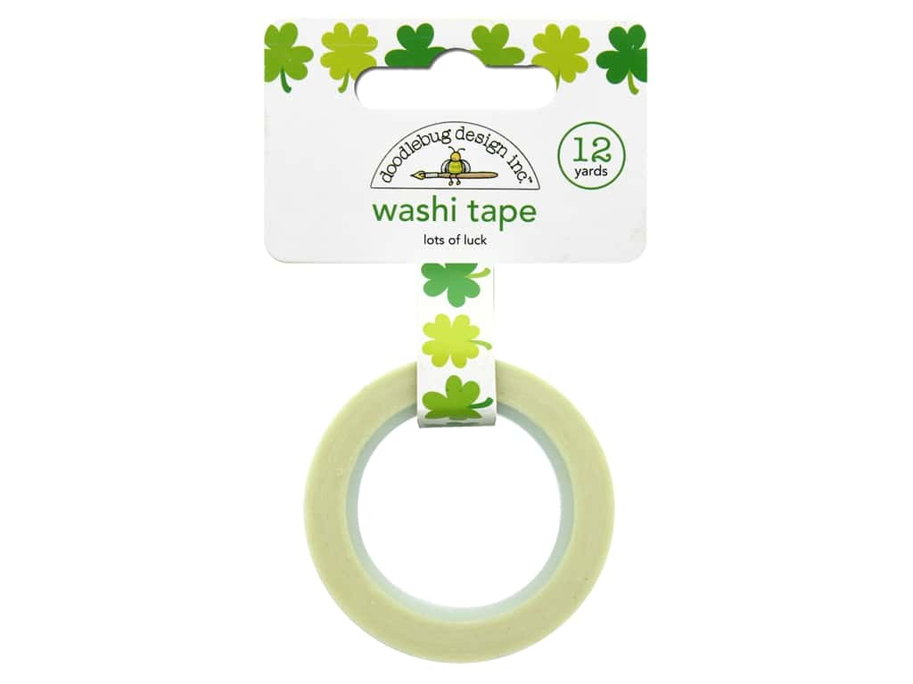 Doodlebug Washi Tape 5/8 in. x 12 yd. Pot O Gold Lots Of Luck