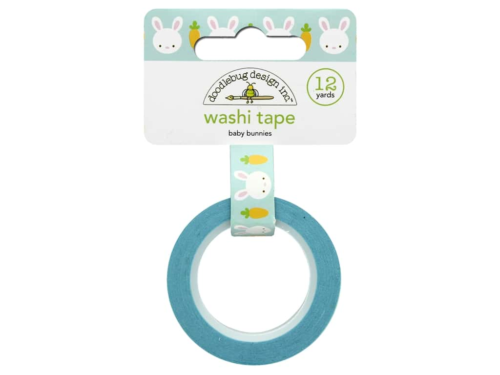 Doodlebug Washi Tape 5/8 in. x 12 yd. Bunnyville Baby Bunnies