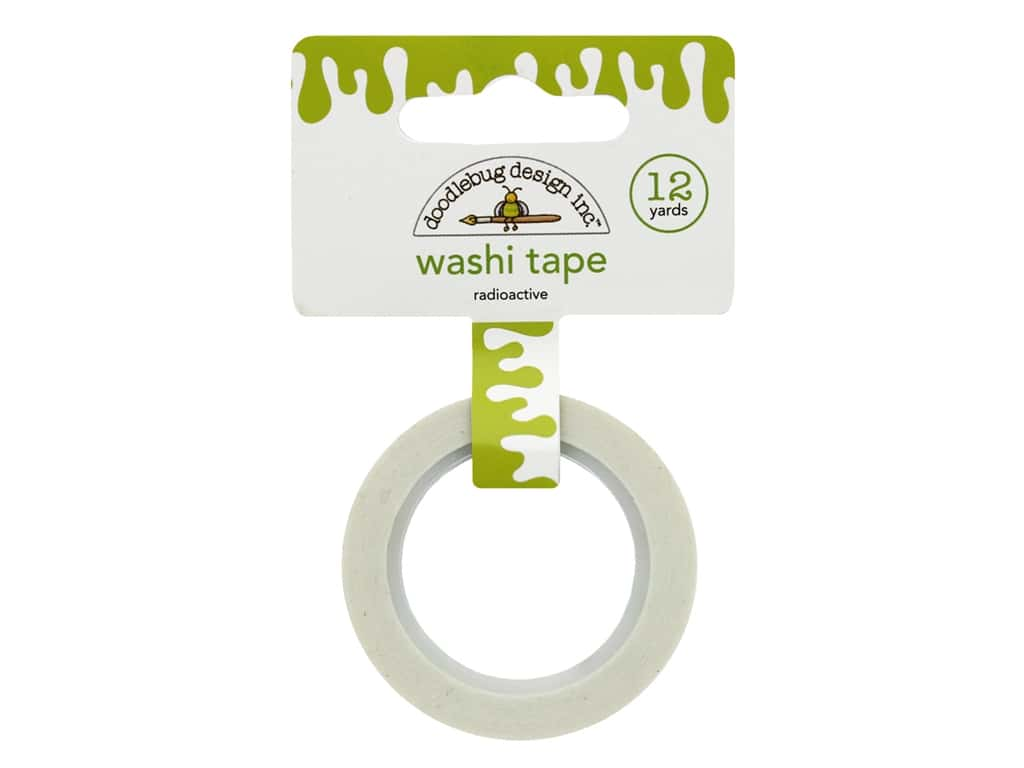 Doodlebug Washi Tape 5/8 in. x 12 yd. Boos & Brews Radioactive