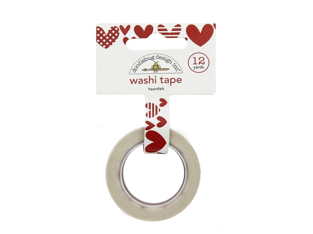Doodlebug Collection Yankee Doodle Washi Tape Heartfelt