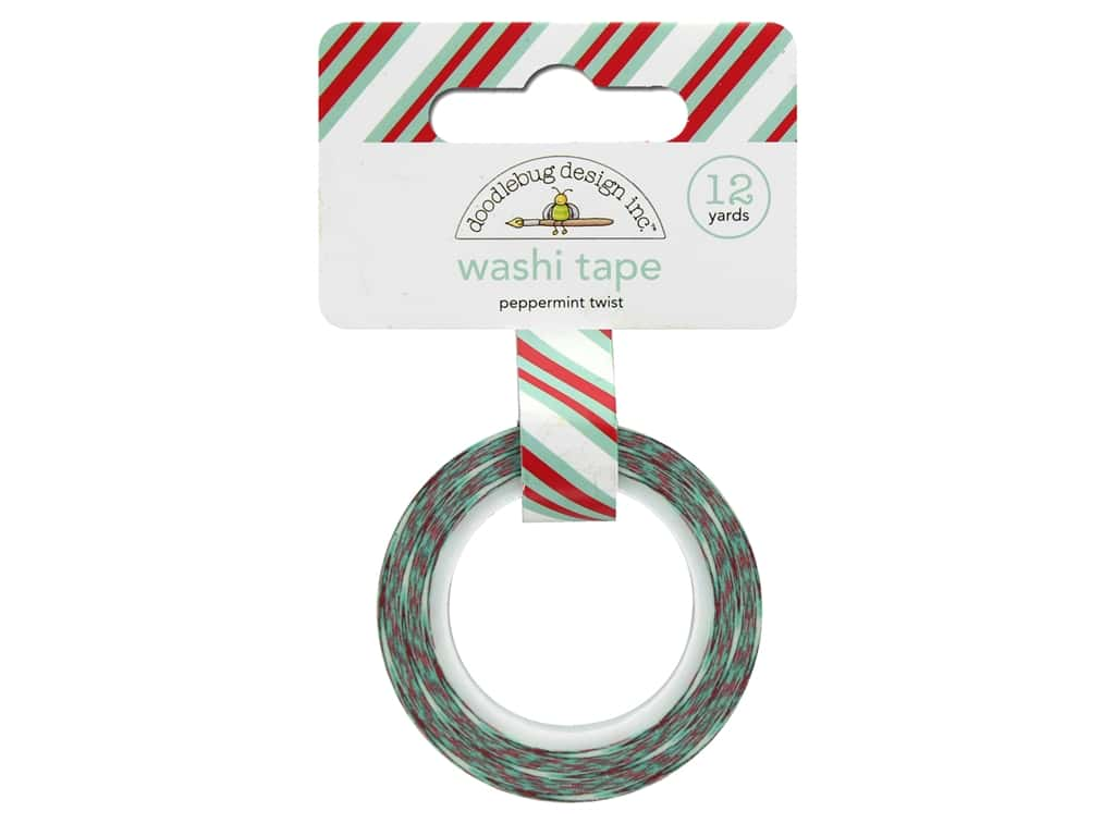Doodlebug Collection Milk & Cookies Washi Tape Peppermint Twist (6 yards)