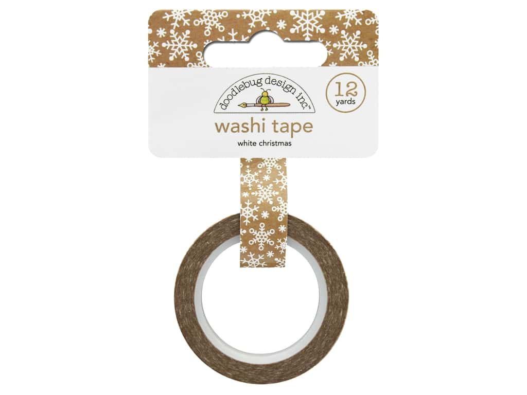 Doodlebug Collection Christmas Town Washi Tape White Christmas