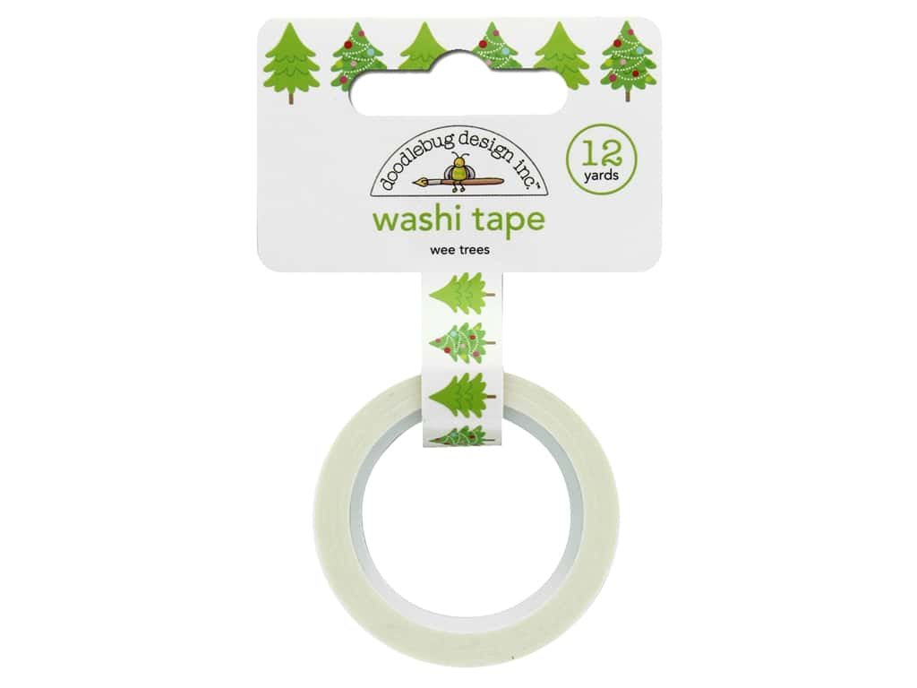 Doodlebug Collection Christmas Town Washi Tape Wee Trees