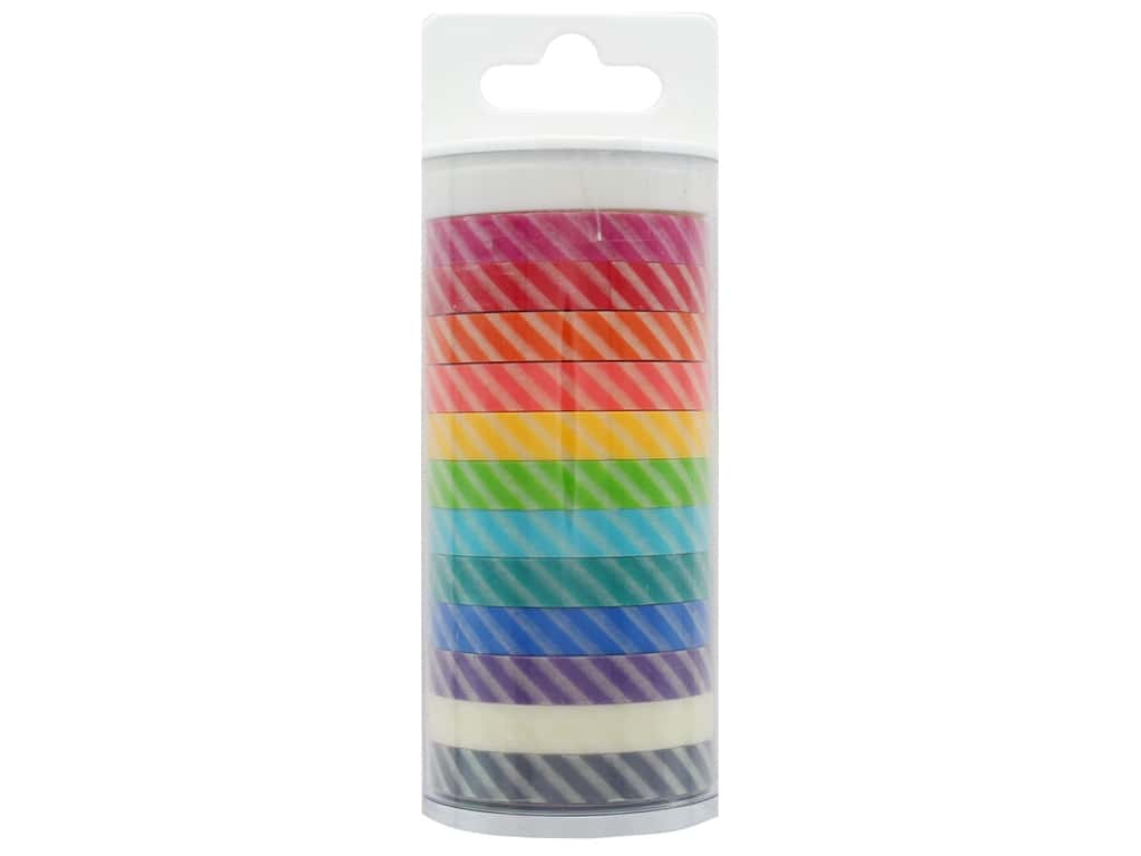 Doodlebug Washi Tape 5/16 in. x 12 yd. Candy Stripe Assortment 12 pc.