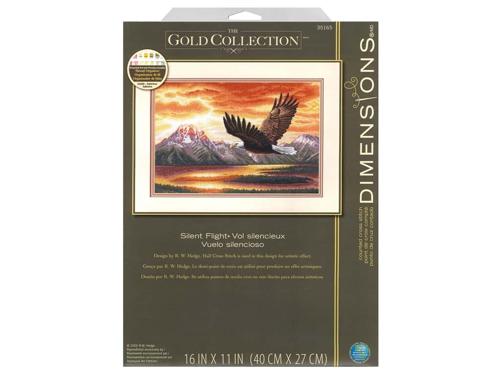 Dimensions Counted Cross Stitch Kit 16 x 11 in. Silent Flight