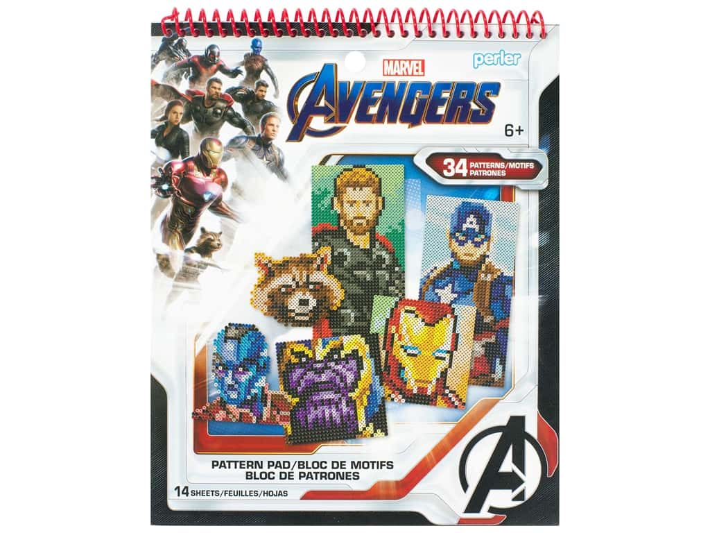 Perler Fused Bead Books Pattern Pad Marvel Avengers