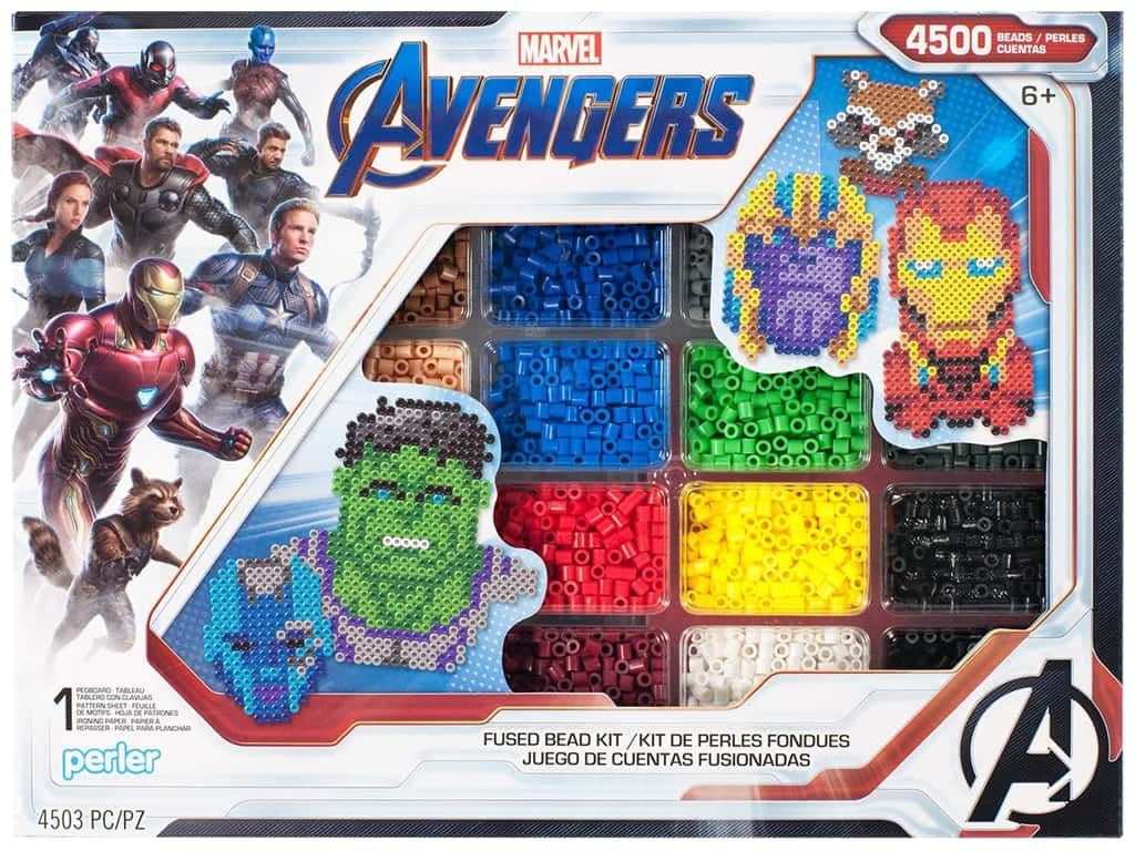 Perler Fused Bead Kit Deluxe Marvel Avengers Infinity War 4500pc