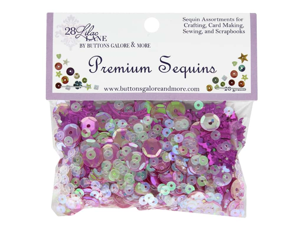 Buttons Galore 28 Lilac Lane Premium Sequins Crowned Glory