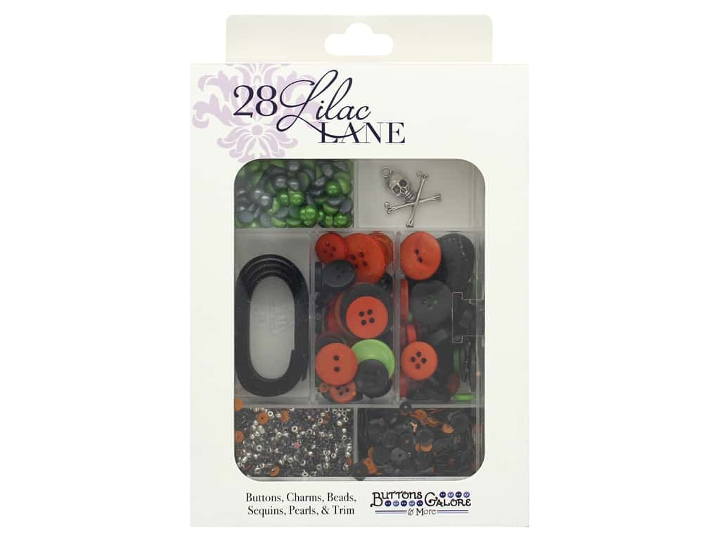 Buttons Galore 28 Lilac Lane Embellishment Kit Halloween Night