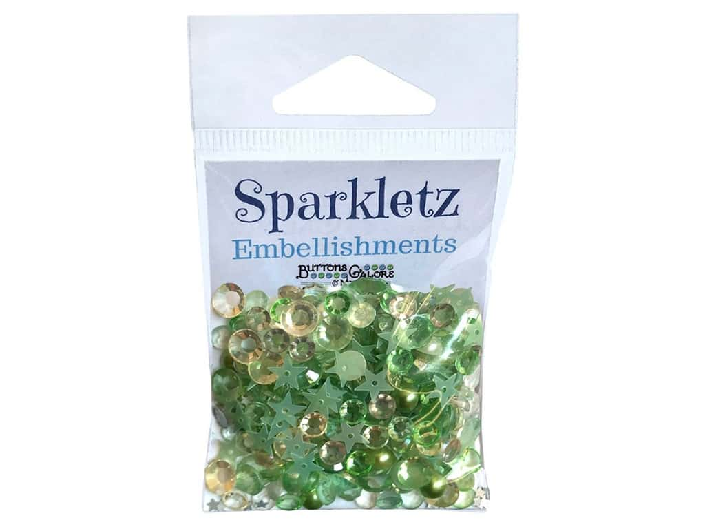 Buttons Galore Sparkletz - Winters Evergreen (3 sets)