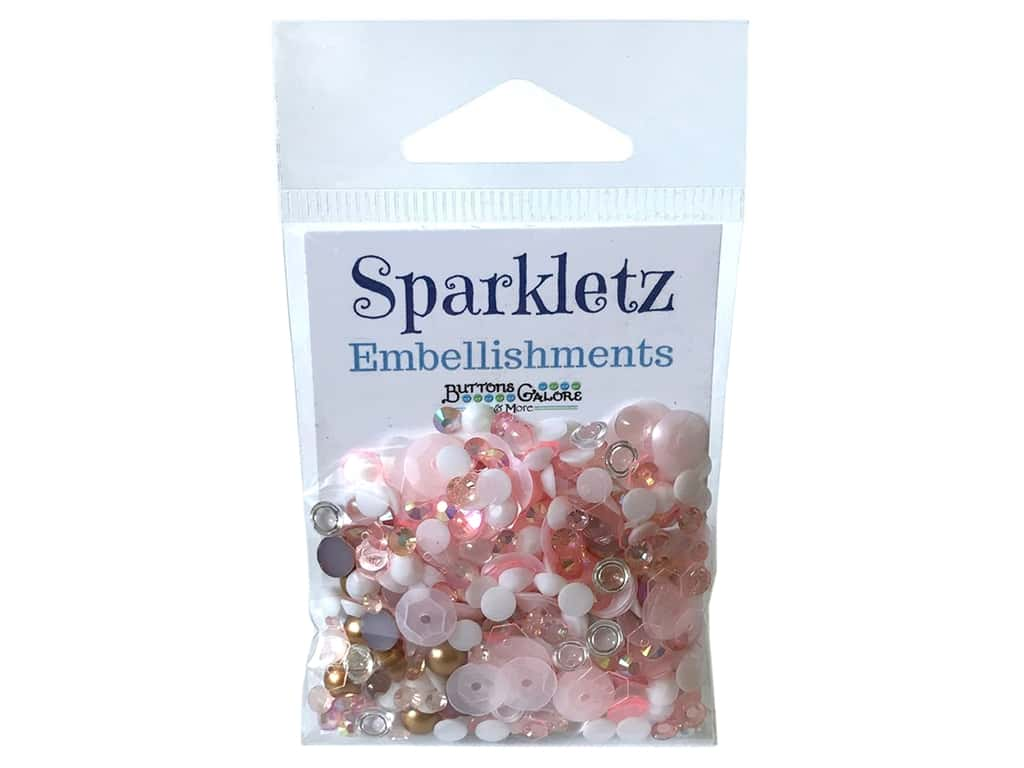 Buttons Galore Sparkletz - Coral Coast (3 sets)