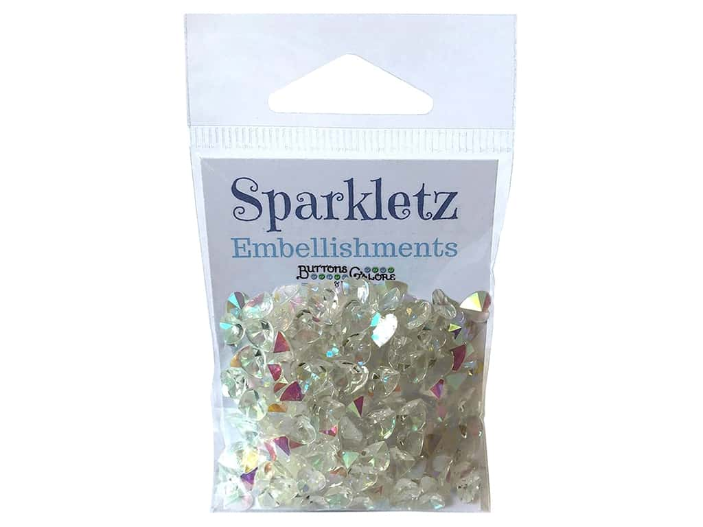 Buttons Galore Sparkletz - Crystal Hearts (3 sets)