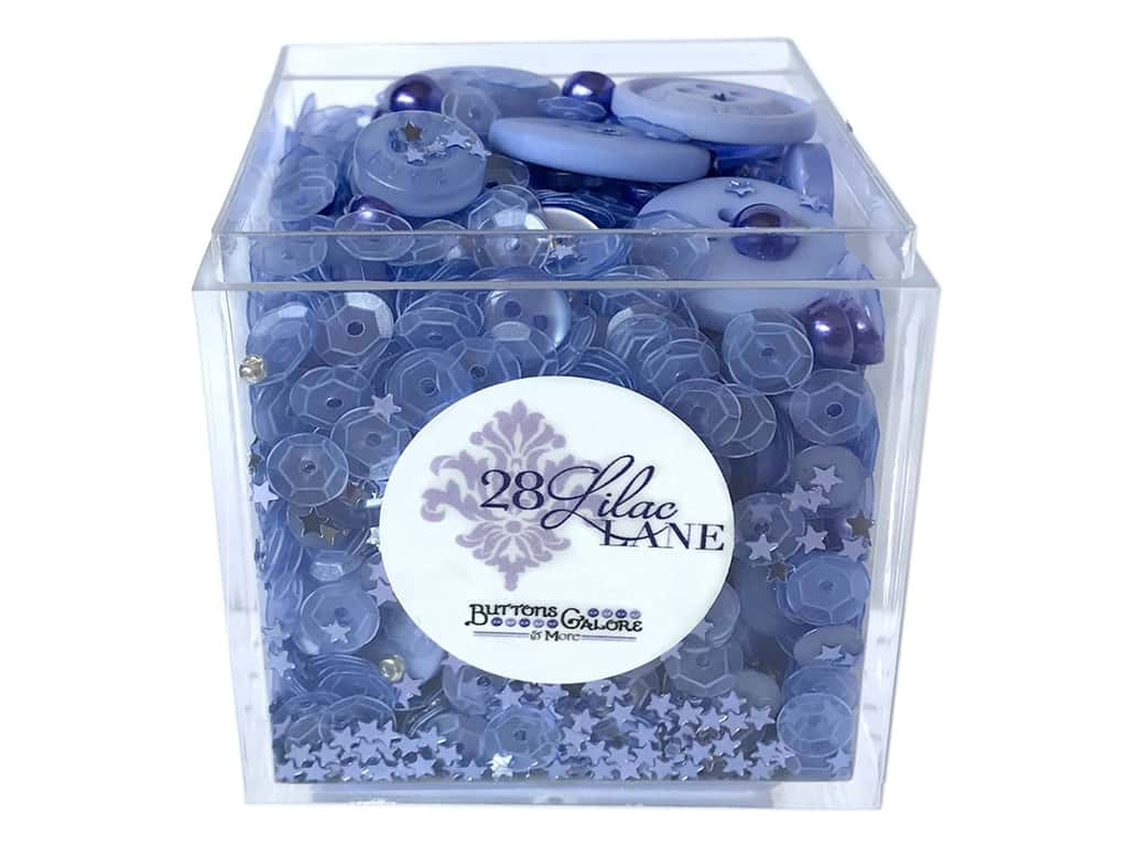 Buttons Galore 28 Lilac Lane Shaker Mix Periwinkle