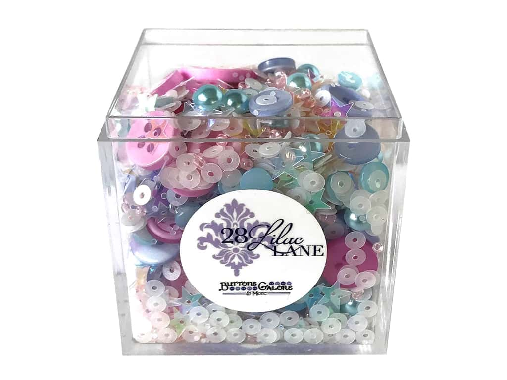 Buttons Galore 28 Lilac Lane Shaker Mix Pastel Dreams