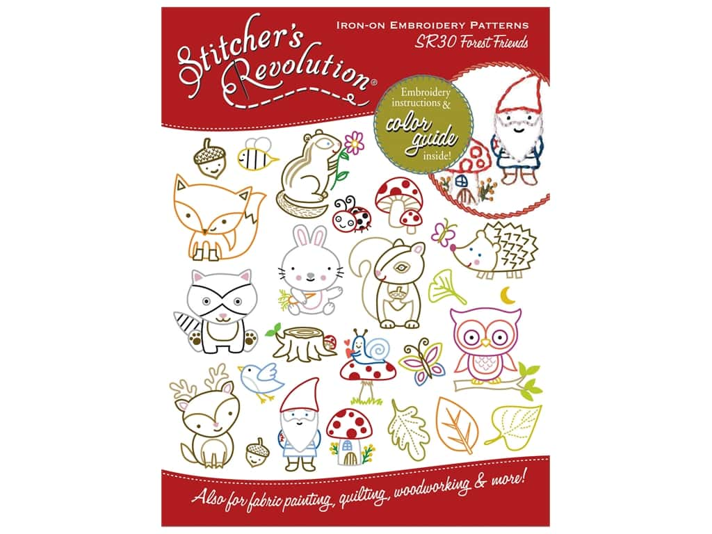 Stitcher's Revolution Iron On Transfer Forest Friends