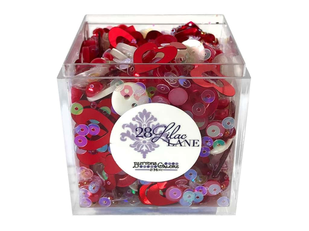 Buttons Galore 28 Lilac Lane Shaker Mix Love Is In The Air