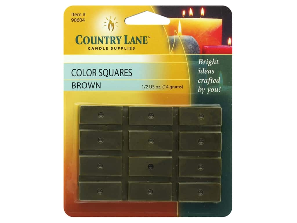 Country Lane Candle Color Squares .5 oz Brown