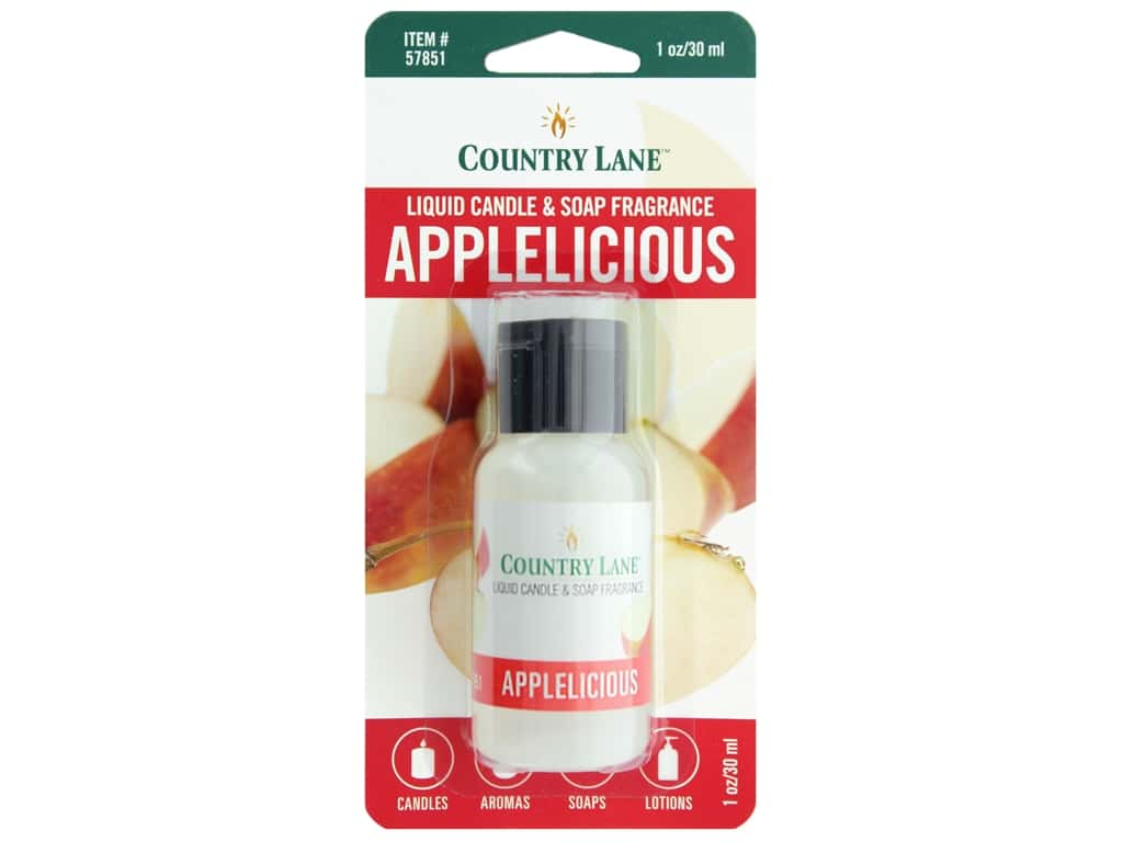 Country Lane Liquid Candle & Soap Fragrance Applelicious 1 oz