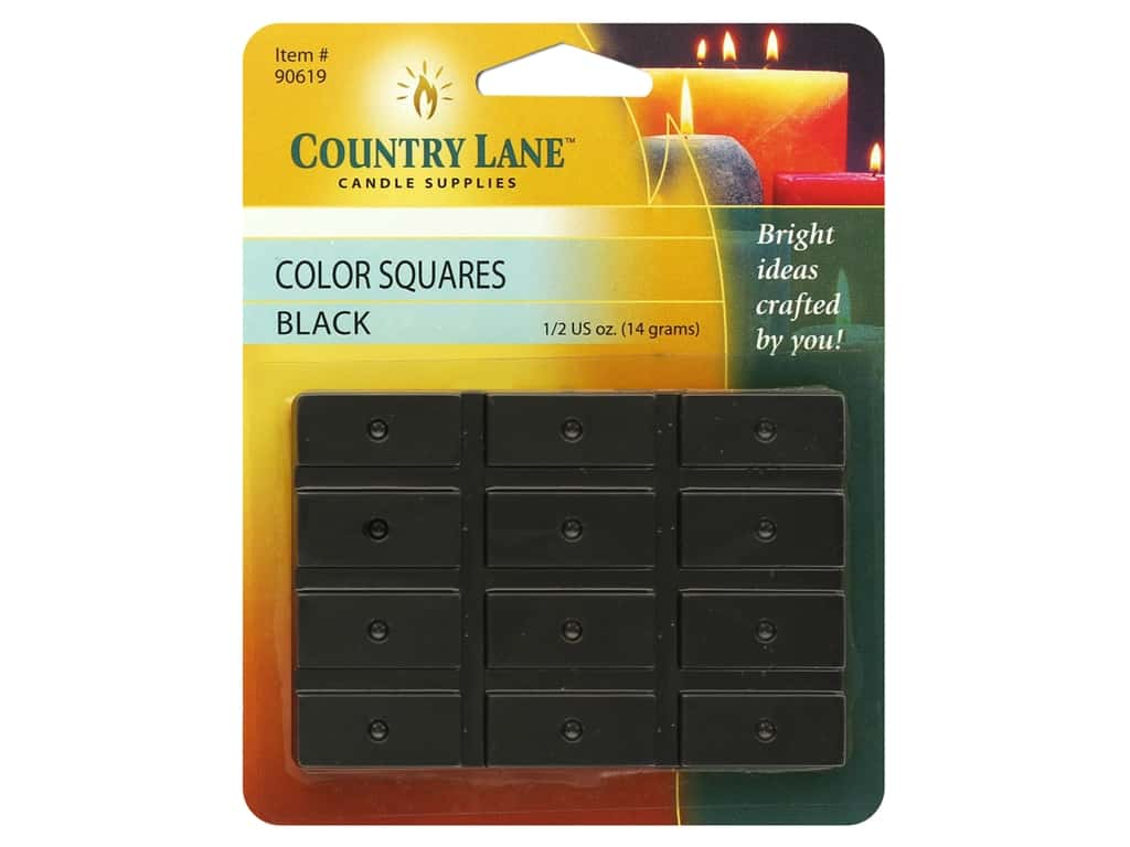 Country Lane Candle Color Squares .5 oz Black