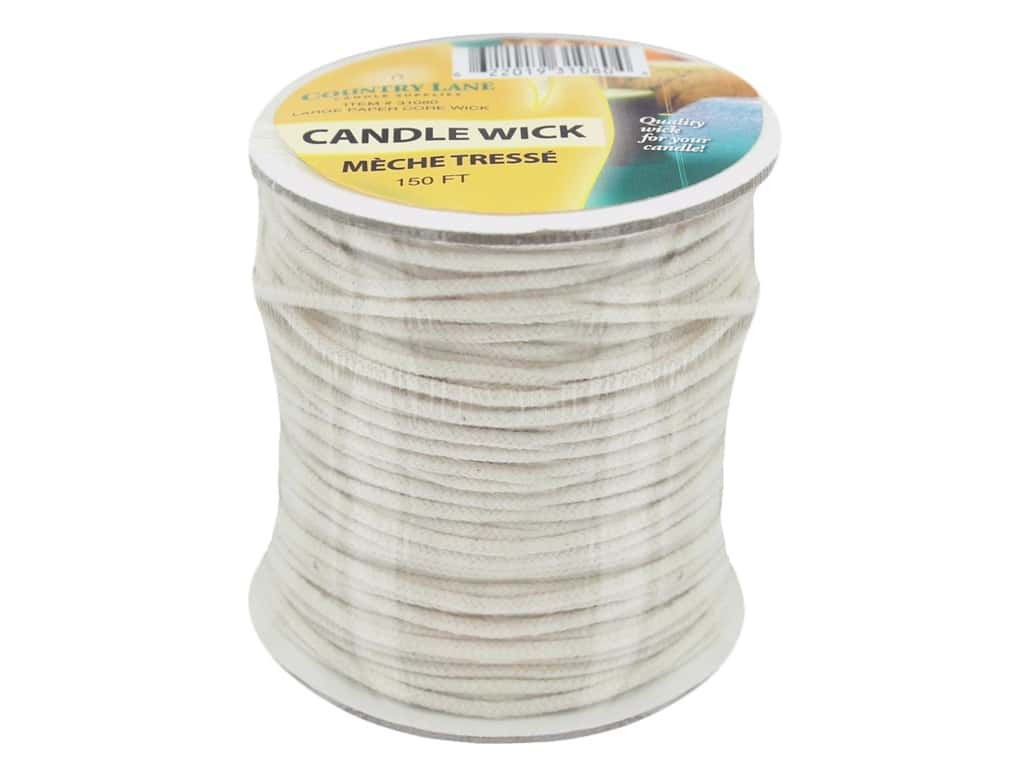 Country Lane Candle Wick Paper Core Large 150' Spool