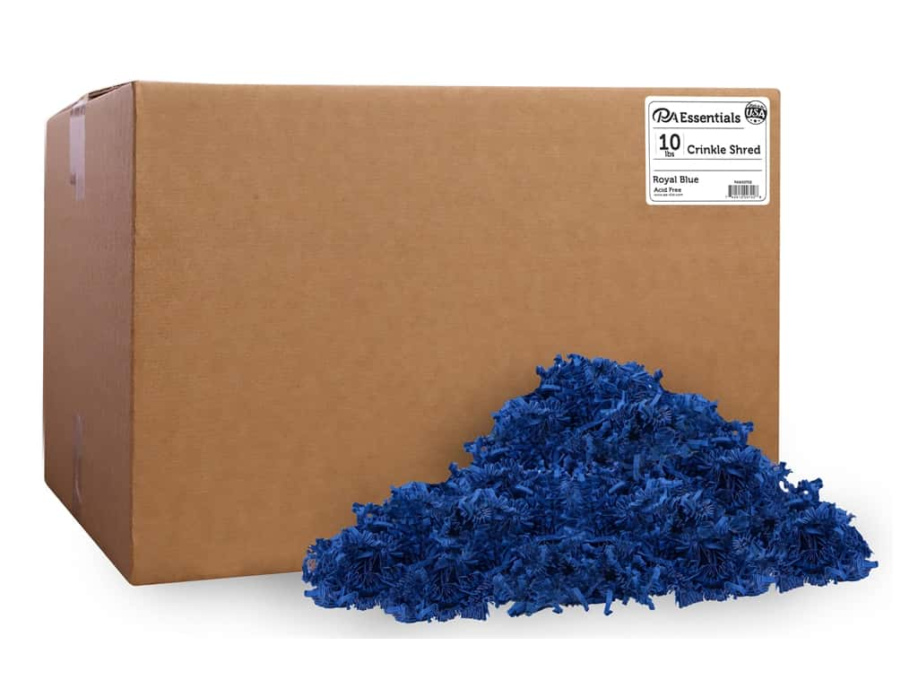 PA Essentials Crinkle Shred 10 lb. Royal Blue
