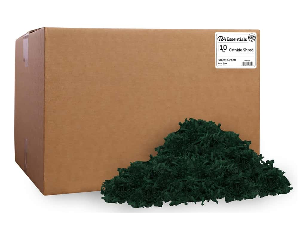 PA Essentials Crinkle Shred 10 lb. Forest Green