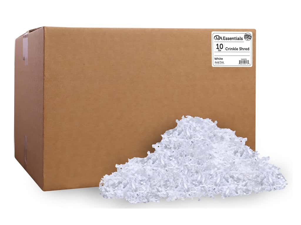 PA Essentials Crinkle Shred 10 lb. White