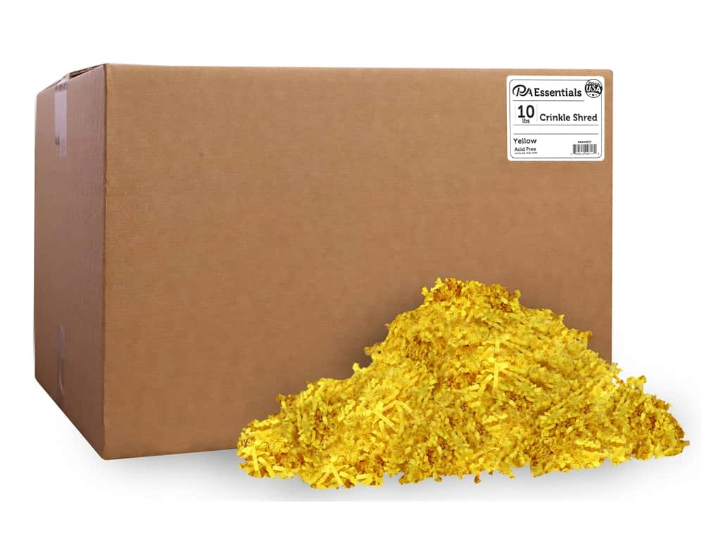 PA Essentials Crinkle Shred 10 lb. Yellow