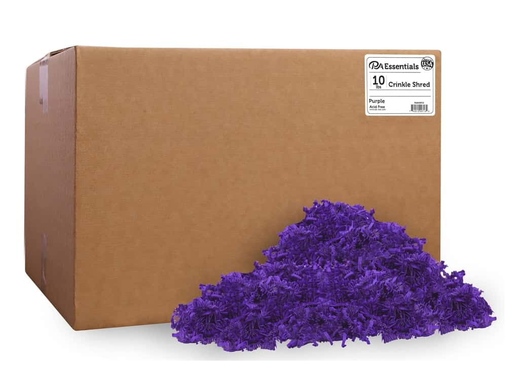 PA Essentials Crinkle Shred 10 lb. Purple