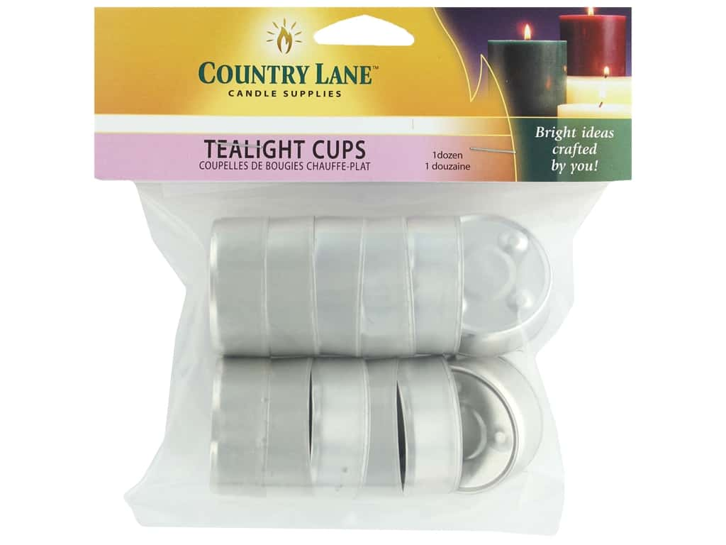 Country Lane Tealight Cup Metal Tealight Cup 12 pc