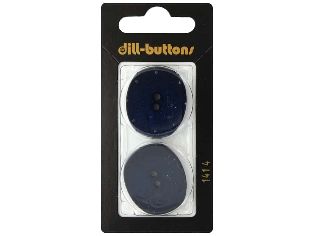 Dill 2 Hole Buttons 1 1/8 in. Navy #1414 2 pc.