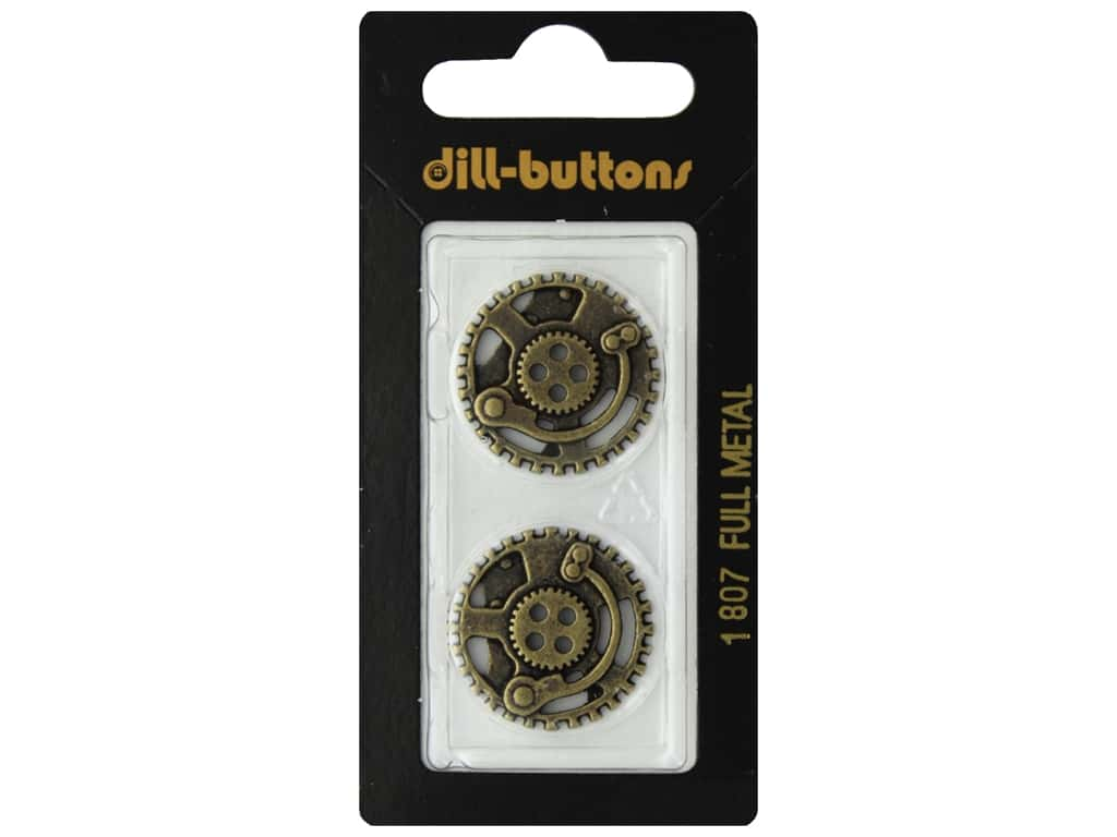 Dill 4 Hole Buttons 7/8 in. Gold #1807 2 pc.