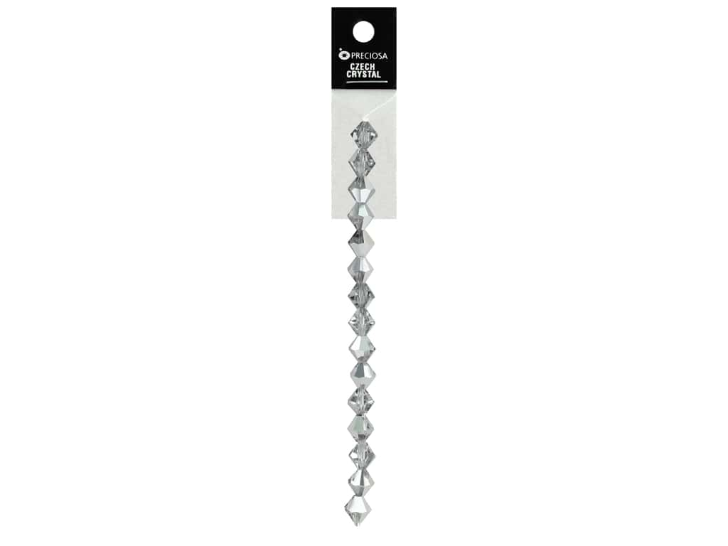 John Bead Preciosa 5 in. Strand Rondell 8 mm Labrador Half Coated