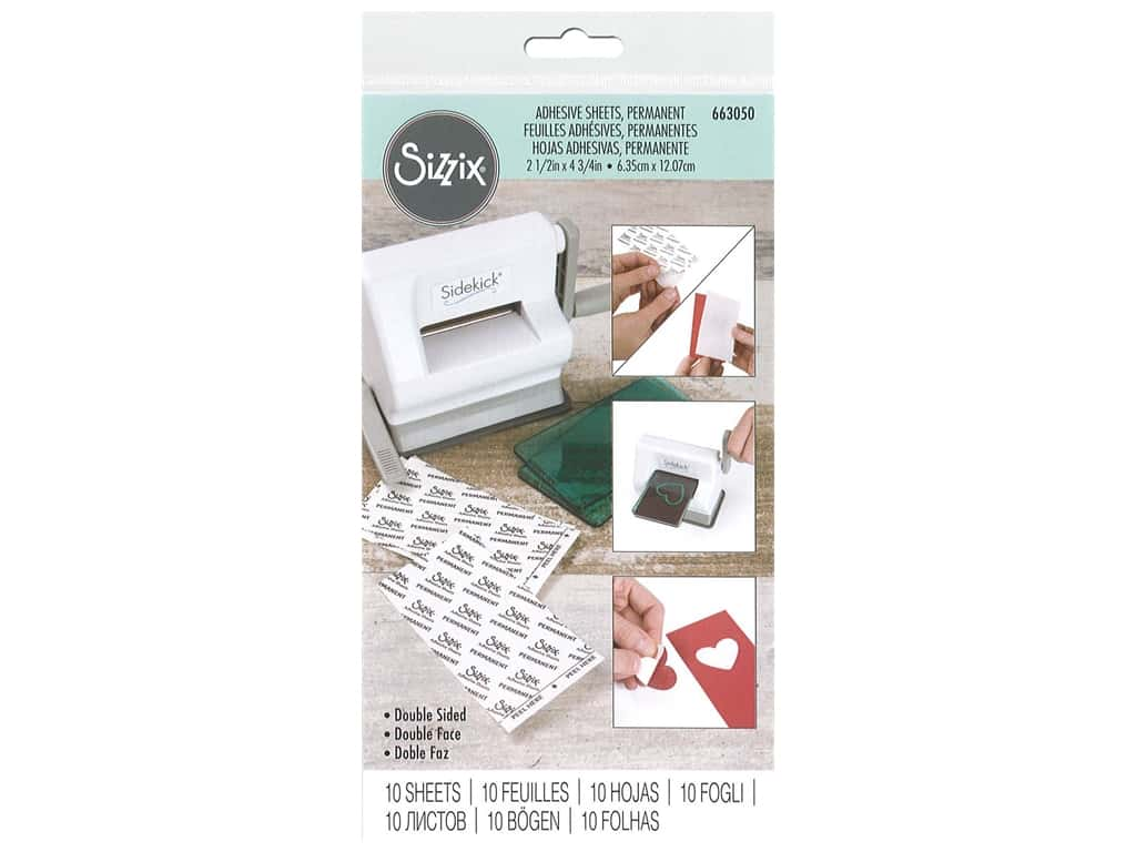 Sizzix Adhesive Sheet 2.5 in. x 4.75 in. 10 pc